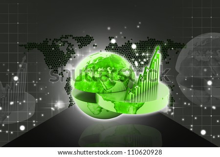 Digital illustration of Business growth concept - stock photo