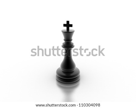 Digital illustration of chess board in 3d on digital background - stock photo