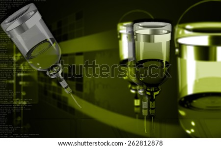 Digital illustration of drip in colour background