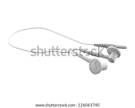Digital illustration of earphones in white background / earphones