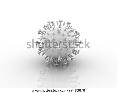 Digital illustration of herpes VIRUS in 3d on digital background - stock photo
