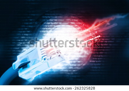 Digital illustration of network cable - stock photo