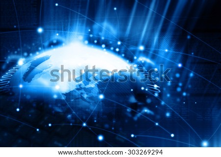 Digital illustration of Network technology  - stock photo