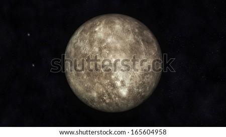Digital Illustration of Planet Mercury - stock photo