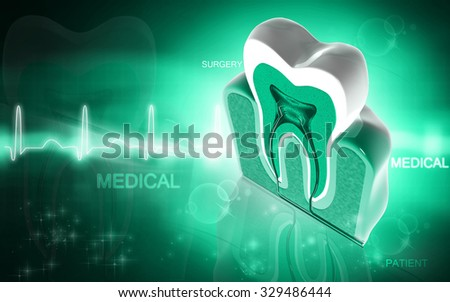 Digital illustration of  polio virus in green colour  background