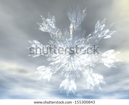 Digital Illustration of Snow Crystals
