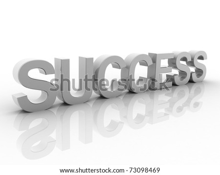 Digital illustration of success in 3d on white background - stock photo