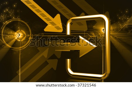 Digital illustration of way in sign in colour background