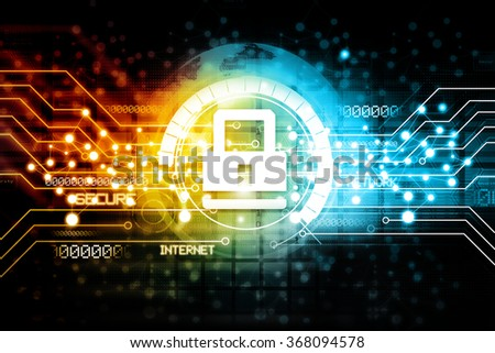 Digital Internet security - stock photo