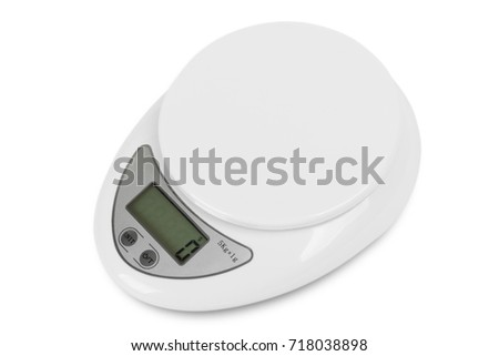 Digital Kitchen Scale on a white background