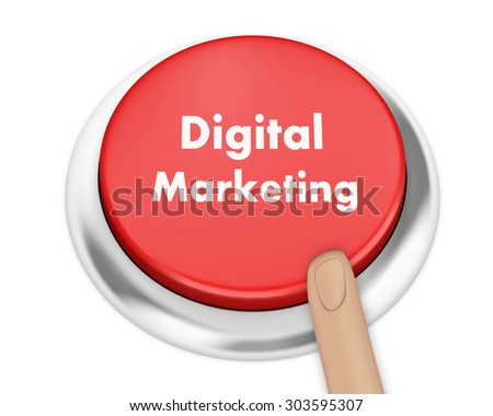 Digital Marketing button on isolate white background