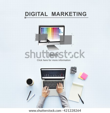 Digital Marketing Media Web Design Ideas Concept