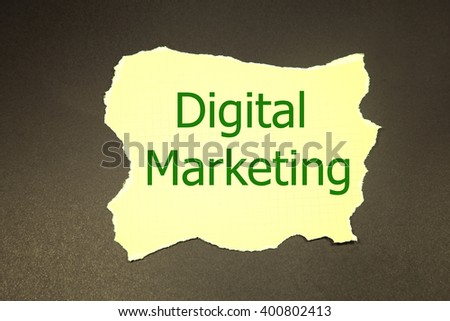 digital marketing written under torn paper