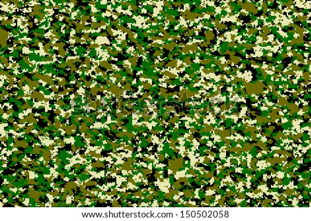 Digital military camo texture, for future military usage concept