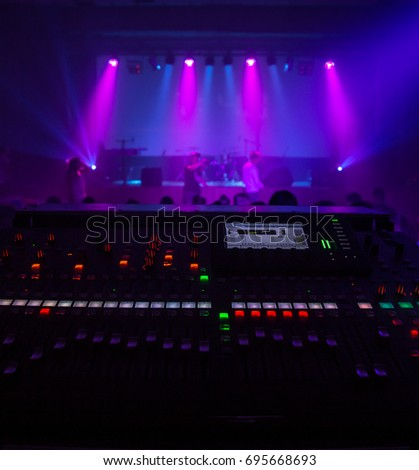 digital mixing console as a musical concert