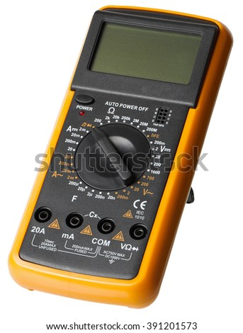 Digital Multimeter, Electrical Tester isolated, white background