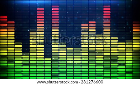 digital music equalizer classic colors - stock photo