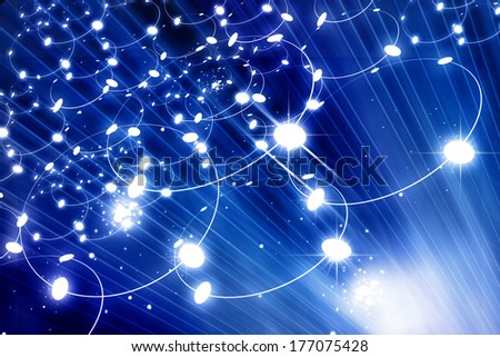 Digital  network  - stock photo
