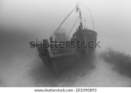 Digital Oil Painting Of Underwater Shipwreck at Tenggol Island, Malaysia