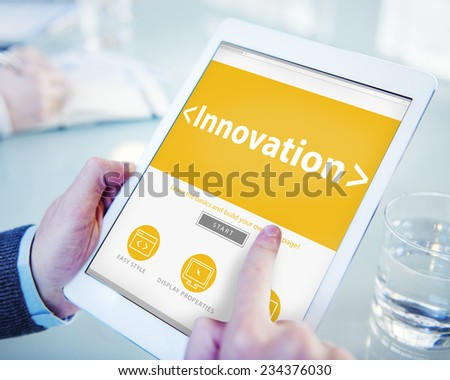 Digital Online Innovation Development Web Page Browsing Concept - stock photo