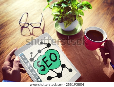 Digital Online Search Engine Optimization Web Online Concept - stock photo