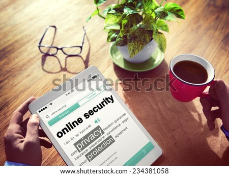 Digital Online Security Protection Searching Concept - stock photo