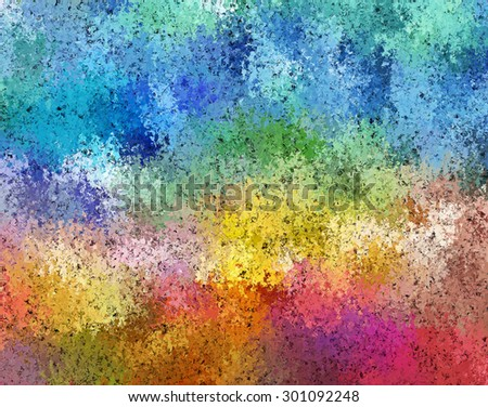 Digital Painting Beautiful Abstract Multi-Color Water Color Paint Cosmic Fields in Dark Pastel Color Background - stock photo
