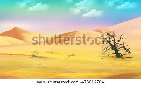 Hot Desert Stock Images RoyaltyFree Images Vectors Shutterstock - A hot desert