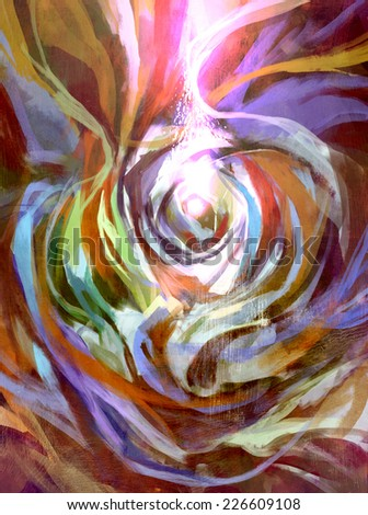 digital painting of abstract rose background