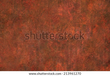 digital painting of red texture background on the basis of paint - stock photo