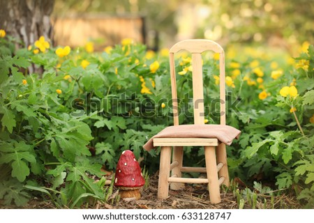 Digital Photography Background Of Outdoor Spring Garden Scene