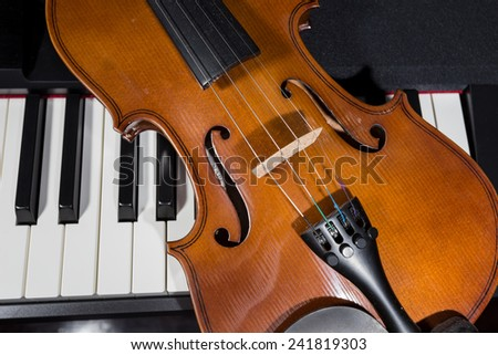 digital piano and violin