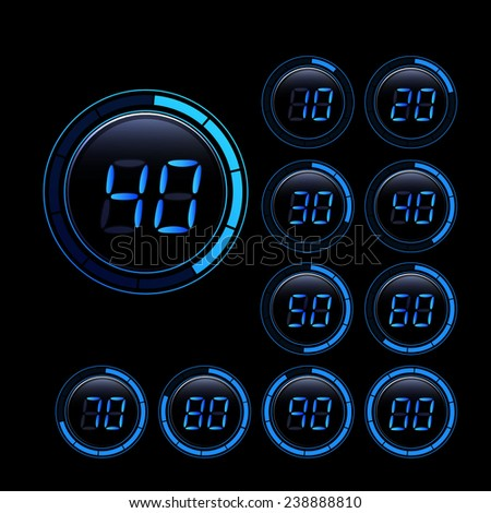 digital second counter - stock photo