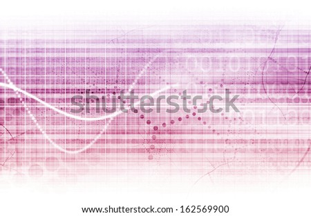 Digital Security Industry through Online Data Art - stock photo