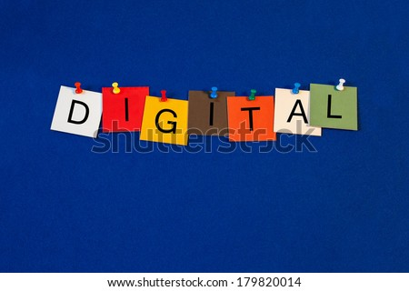 Digital, sign series for computers, the binary system, audio, video, internet and technology.  - stock photo