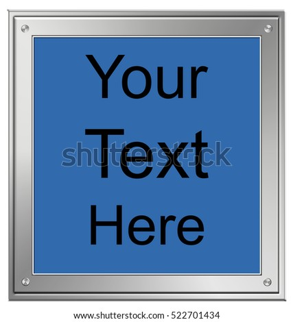 Digital silver frame picture with sample text.
