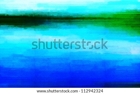 Digital structure of painting. Abstract background with oil paint in scratches - stock photo