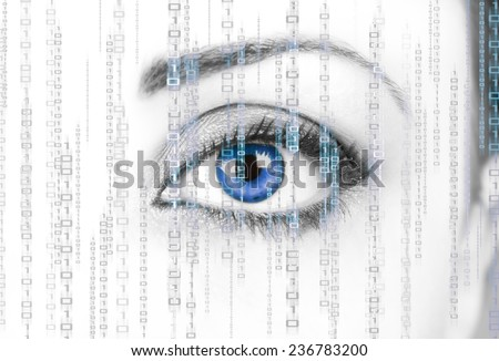 Digital Surveillance - stock photo