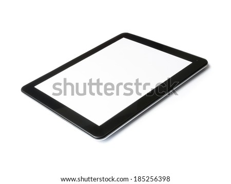 digital tablet computer isolated on white background with space for text - stock photo