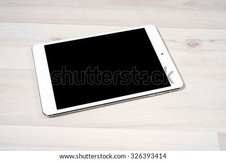 Digital tablet on the table - stock photo