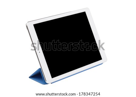 Digital tablet pc isolated on a white background - stock photo