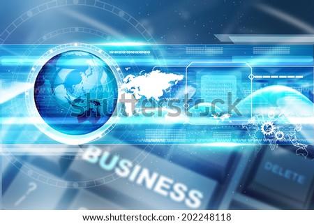 Digital technology background - stock photo