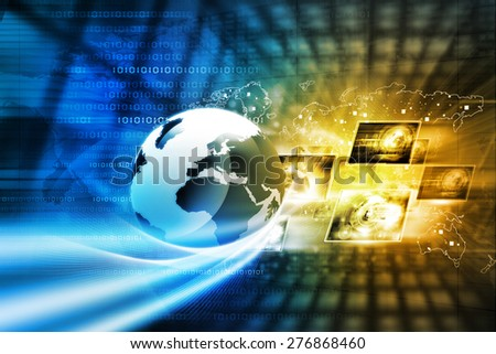 Digital technology background - stock photo