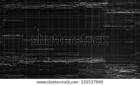 digital technology background, a lot of small dots form distorted and displaced surface - stock photo