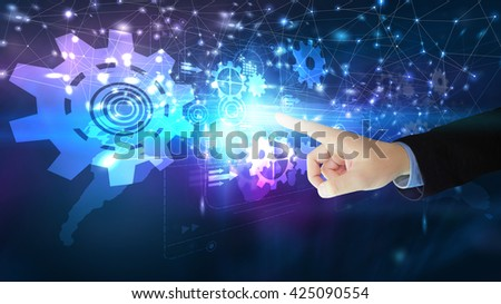 Digital technology concept. - stock photo