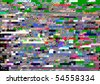 Digital television noise - stock photo
