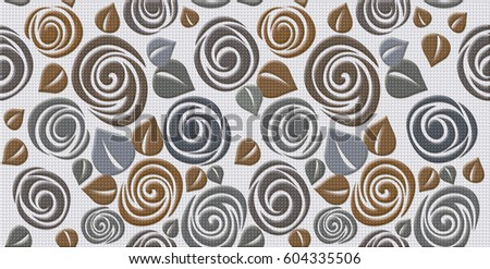 decorative ceramic wall tiles. Digital tiles design Colorful ceramic wall decoration  Tiles Design Ceramic Wall Stock Illustration