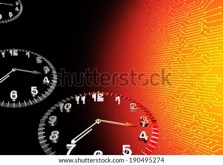 Digital time technology concept  - stock photo