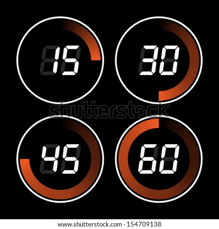 Digital timer - stock photo