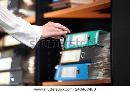 Digital transfer data on flash memory - stock photo